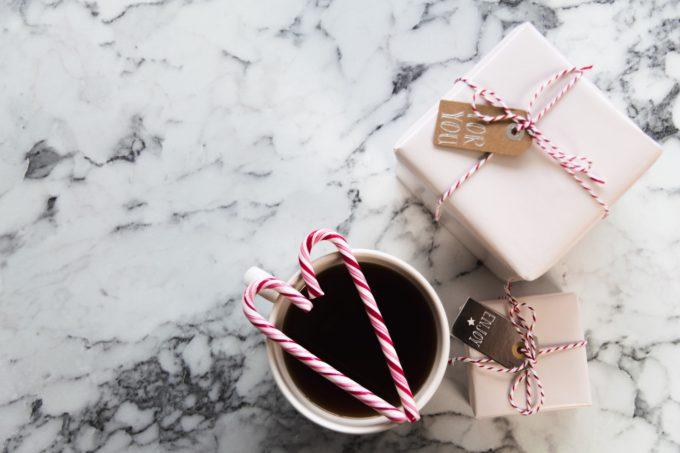 プレゼントとコーヒー